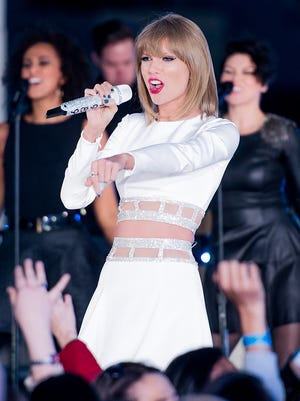 Taylor Swift performs during her '1989' Secret Session with iHeartRadio on Oct. 27, 2014 in New York City.