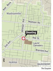 A map of where the shooting occurred.