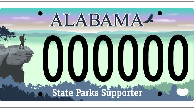 A new specialty motor vehicle license plate was launched to benefit the state parks system in Alabama.