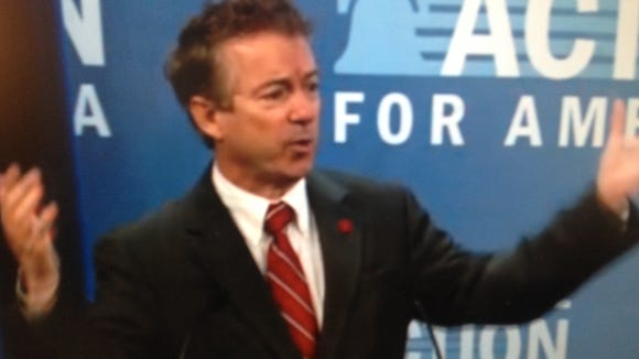 Sen. Rand Paul, R-Ky., speaking at Heritage Action's Conservative Policy Summit in Washington.