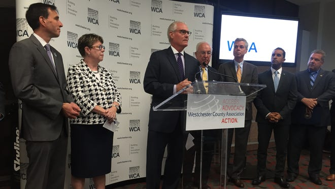 Bill Harrington, chairman of the Westchester County Association, announces a joint initiative to pursue gigabit broadband; the effort is being led by the cities of Yonkers, Mount Vernon, New Rochelle and White Plains.