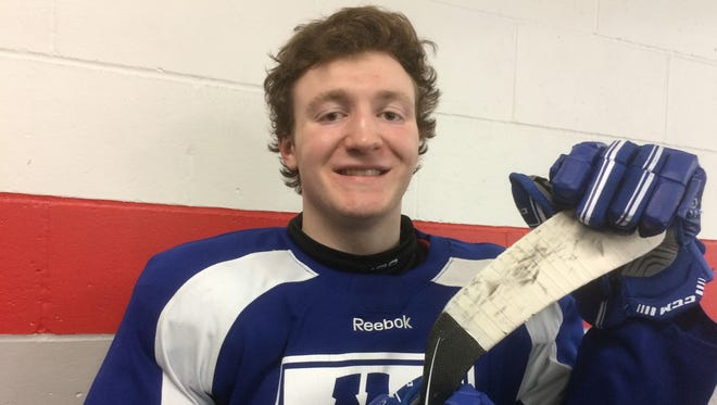 Green Bay Notre Dame senior Stephen Lovell is student body president and a four-year varsity player on the hockey team.