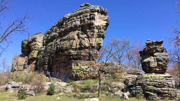 This is Ship Rock, located on State 21 in central Adams