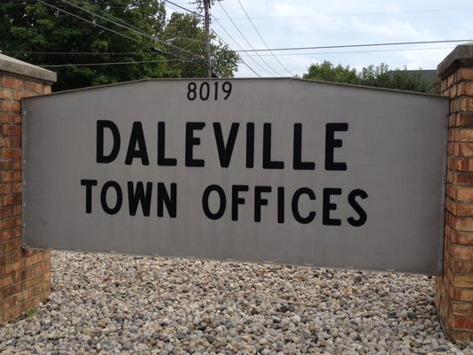Daleville town sign