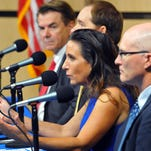 """Thad Altman, Brian Hodgers, Monique Miller and Robert """"Fritz"""" VanVolkenburgh, GOP candidates for House District 52, debate issues in August. Altman, who won the primary, will run unopposed in November."""