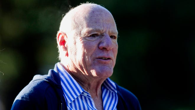This July 2010 file photo shows Barry Diller  at the annual Allen & Co. Media summit in Sun Valley, Idaho. Thirty years after failing to persuade the Supreme Court of the threat posed by home video recordings, big media companies are back at the high court to try to rein in another technological innovation that they say threatens their financial well-being. The battle has moved out of viewers' living rooms, where Americans once marveled at their ability to pop a cassette into a recorder and capture their favorite programs or the game they wouldn't be home to see. Now the entertainment conglomerates that own U.S. television networks are waging a legal fight, with Supreme Court argument on Tuesday, against a start-up business that uses Internet-based technology to give subscribers the ability to watch programs anywhere they can take portable devices. The source of the companiesí worry is Aereo Inc., which takes free television signals from the airwaves and sends them over the Internet to paying subscribers in 11 cities. Aereo, backed by media billionaire Barry Diller, has plans to more than double that total.