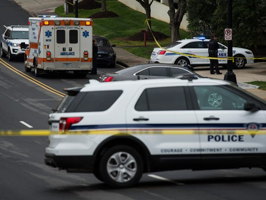Greenville Police Department officials investigate