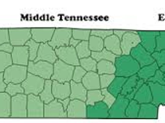 Three Grand Divisions of Tennessee