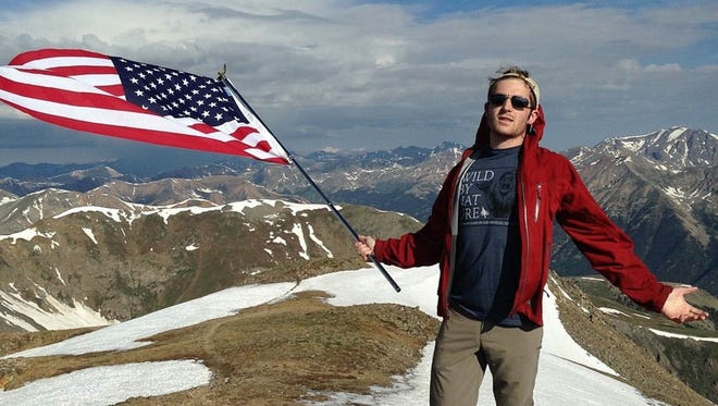 Jake Lord (pictured here on Mt. Huron) died in July 2017 while climbing Capitol Peak. His friends will honor him this April by running in the Horsetooth Half Marathon.