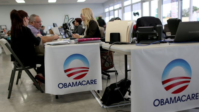 Signing up for health insurance coverage on Feb. 5 in Miami.