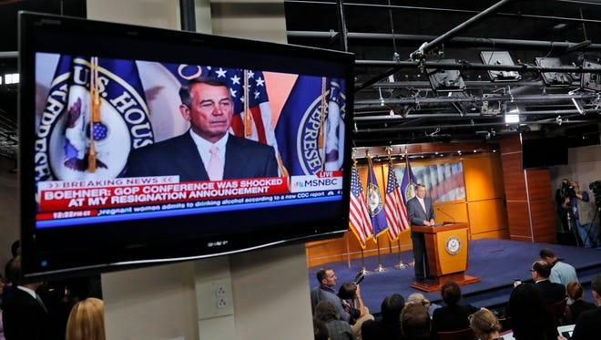 House Speaker John Boehner of Ohio on Sept. 25, 2015.