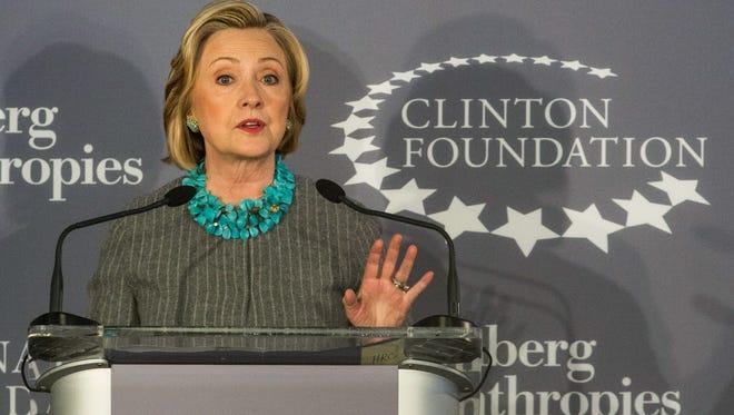 Hillary Clinton in 2014.