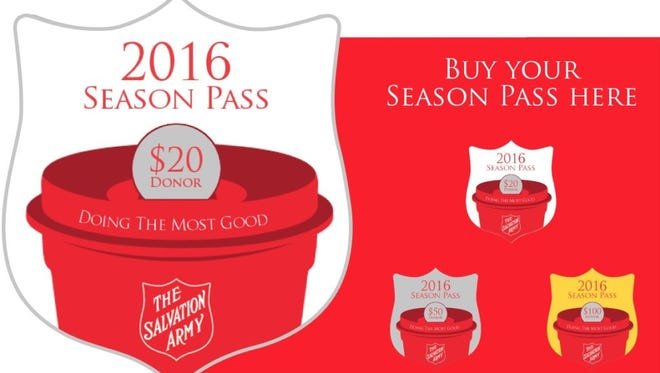Red Kettle Season passes are now available in increments of $20, $50 and $100