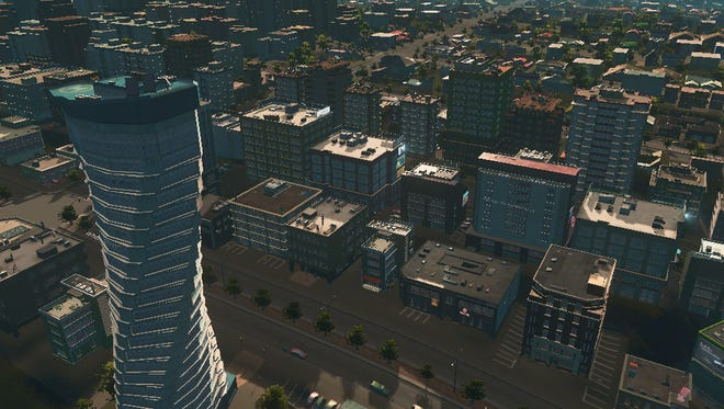 """A scene from """"City Skylines Part II."""""""