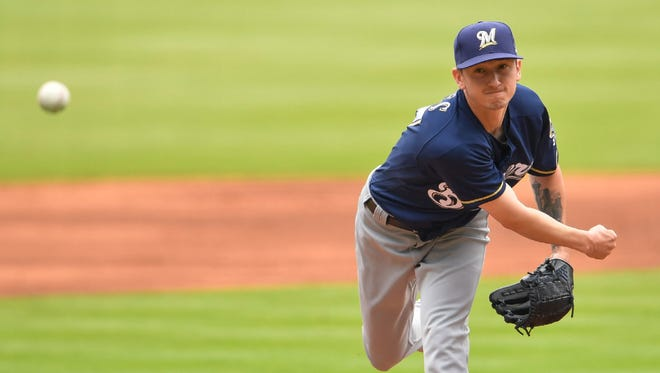 Zach Davies enjoys one of his best starts of the season for the Brewers as he pitches seven shutout inning of four-hit ball with just one walk against the Braves on Sunday.