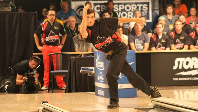 Jeffery Mann bowls at the 2016 Junior Gold Championships. Some athletes like Mann, who won the Under-20 male division at Junior Gold last year, use a combination of school scholarships and their SMART account savings to pay for college.