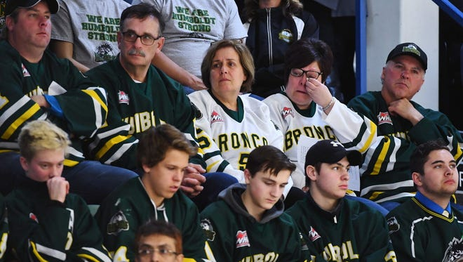 Mourners for the victims of the Humboldt Broncos' bus crash attended a vigil over the weekend.
