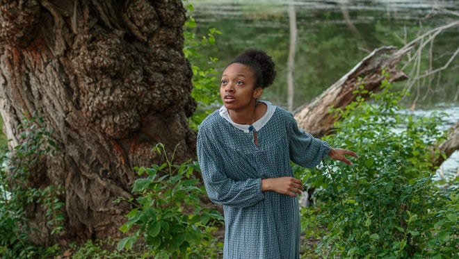 """Eliana Fowler plays the fugitive slave in Morning Star Productions' interactive """"Underground Railroad"""" performance at Wooded Hills Church in Colgate, WI, on July 22, 27, 28, and 29."""