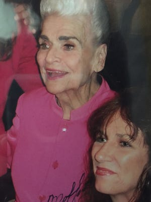 """Rose Mofford and Karina Bland at AZ Magazine's """"Woman of the Year"""" award luncheon in 2011."""