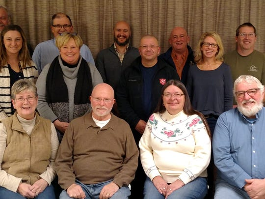 Pictured are members of the Friends of the Sheboygan Marsh Board of Directors. Front row, from left: Lil Pipping (president), Ken Pipping (treasurer), Marjean Pountain (secretary) and Keith Abler (vice president). Middle row, from left: board members Sarah DeZwarte, Ann Buechel Haack, James Whipple and Julia Loo-Sutcliffe. Top row, from left: board members Walter Vollrath III, Steve Schmidt (project adviser), Aaron Brault, Scott McMurray and Michael Ogea.