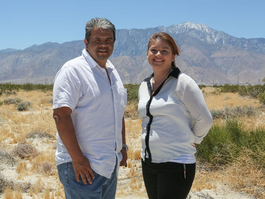 Former Marines Tony Rivera and Sandra Silva-Tello will be operating VetsLeaf, a large marijuana grow operation, near Little Morongo Road and Two Bunch Palms Trail in Desert Hot Springs.