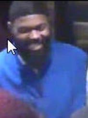 Suspect in casino assault.