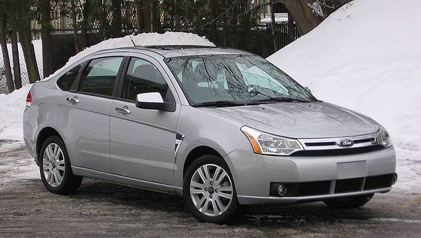The Highway Patrol is searching for a silver Ford sedan similar to the one in the photo after a hit and run on U.S. 25.