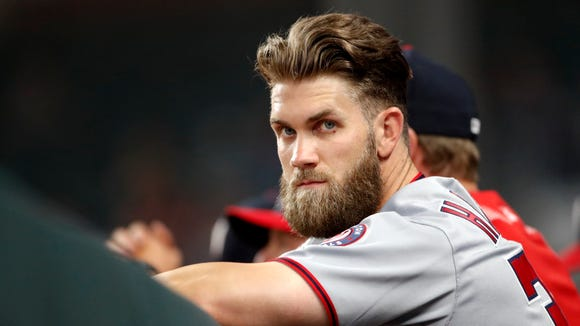 Should the freefalling Nationals look to trade Bryce Harper?