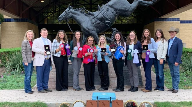 The West Texas A&M University horse judging team, pictured, recently brought home a world championship title from the American Paint Horse Association Collegiate World Championship Horse Judging contest.