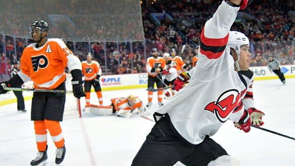 Feb 13, 2018; Philadelphia, PA, USA; New Jersey Devils