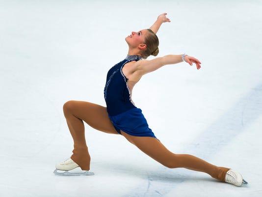 Female Professional Skater Performing Long Program