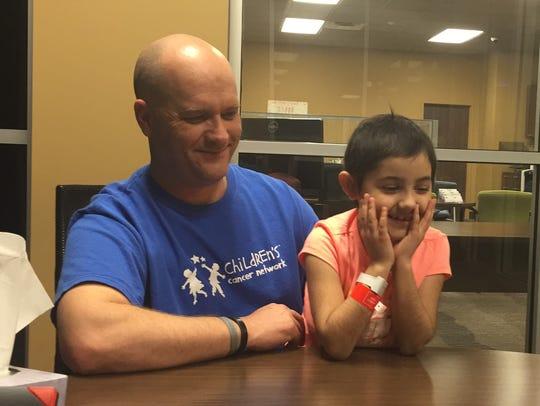 Mia Bryant, 8, has battled cancer.