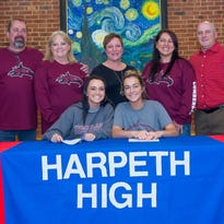 Harpeth Volleyball Players sign with Cumberland University
