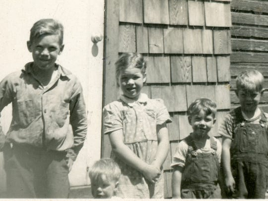 Fergus children include Darwin (from left), Gary, Dorothy,