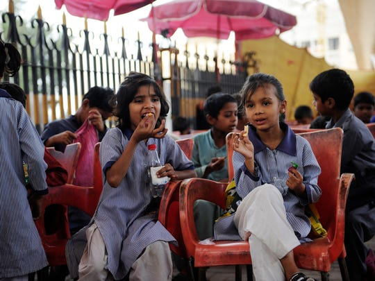 Students are given meals, uniforms and medical care as part of their enrollment, as well as a daily stipend of 50 rupees, the equivalent of about 43 cents. This stipend makes it easier for the children to attend school as they typically spend their day begging or factory work to help support their families.