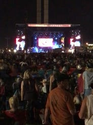A view of the Route 91 Harvest music festival in Las