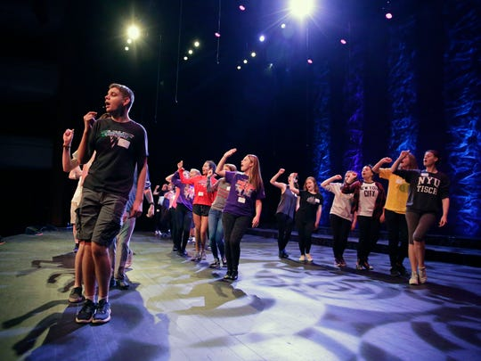 Participants in the Center Stage High School Musical Theater Awards Showcase rehearse before the 2018 event. The awards show for high school theater programs returns to the Fox Cities Performing Arts Center May 18.