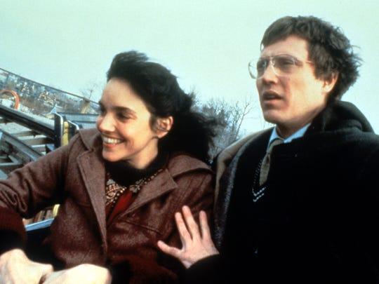 "Christopher Walken, right, with Brooke Adams, is a psychic schoolteacher in ""The Dead Zone."""