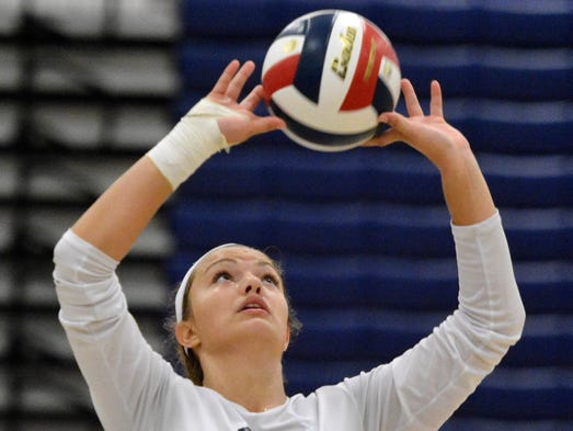 York Suburban vs West York girls' volleyball, Thursday,