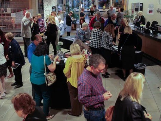 More than 150 people enjoyed a strolling dinner, with