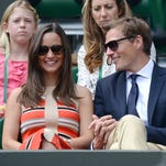 Pippa Middleton and Nico Jackson attend Wimbledon on July 5.