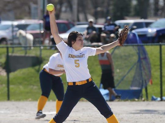 Schoolcraft College sophomore pitcher Sabrina Coleman