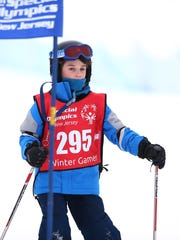 C.J. Kempski of Green Brook competes in the giant slalom