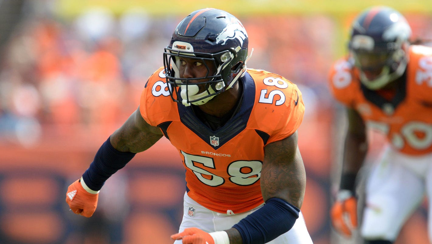 Von Miller agrees to six year $114 5 million contract with Broncos