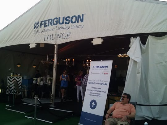 Chef demonstrations take place in this large tent outside CAMP in downtown Palm Springs.
