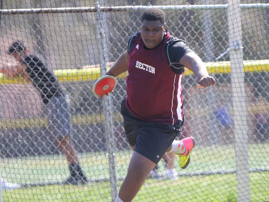 Gregory Anderson, of Becton, won the Meadowlands discus