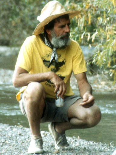 burying edward abbey the last act of defiance edward abbey on a camping trip