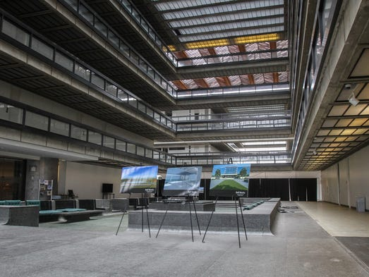 Holmdel, NJ - Bell Works is the revitalization of the former Bell Labs building. Designed by architect Eero Saarinen, the interior space of the building is over 2 million square feet.