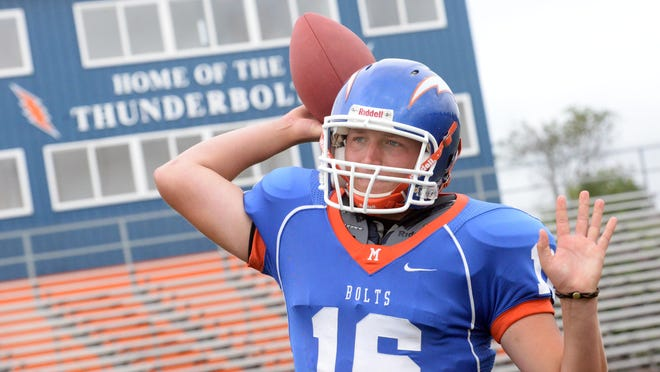 Millville High School quarterback Will Polhamus won't be carrying the ball much this season.   Staff photo/Charles J. Olson