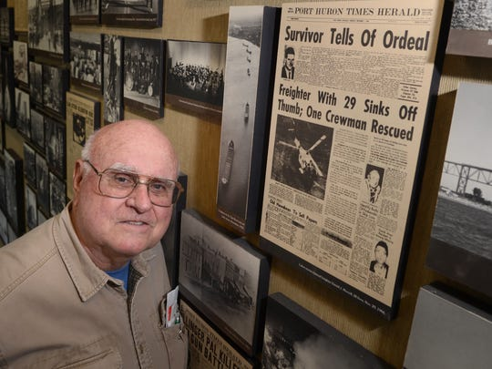 Retired Times Herald photographer Ralph Polovich stands